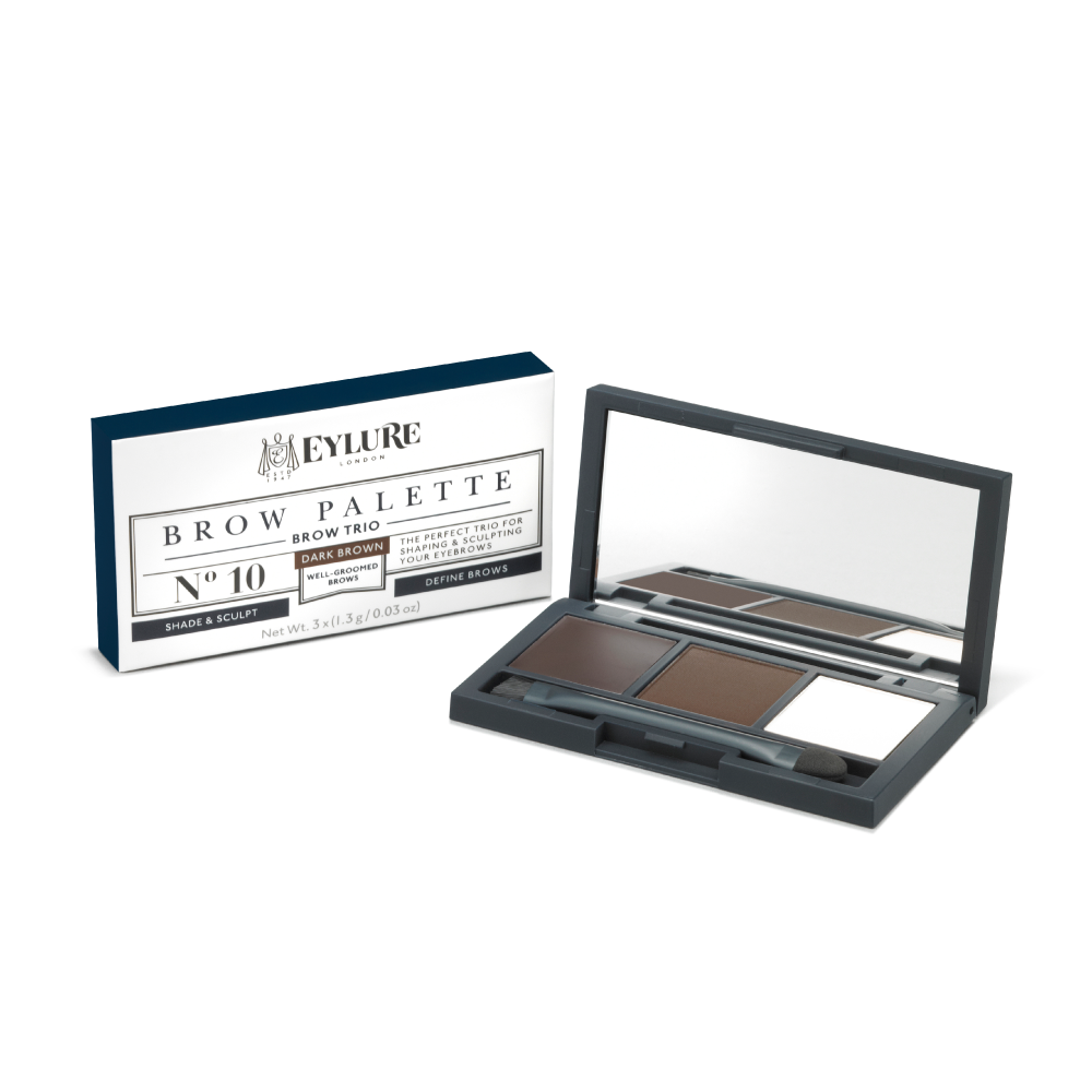 Brow Palette Trio - No. 10 Dark Brown