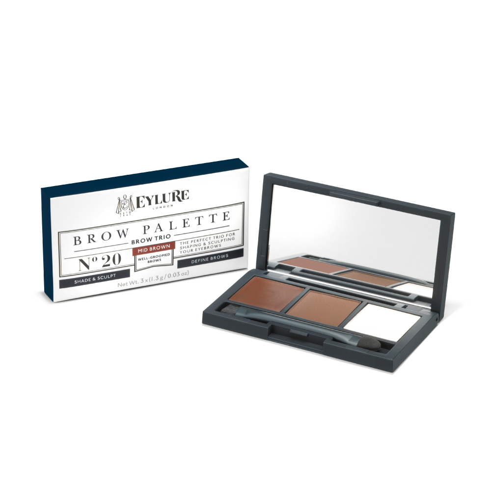 Brow Palette Trio - No. 20 Mid Brown