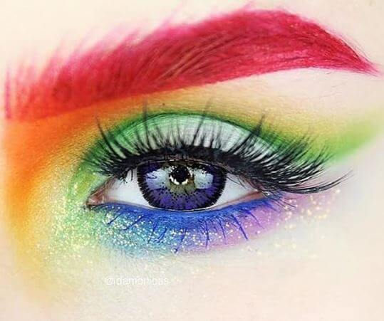 d8648db8203 @idamonicas celebrating Pride London in our Most Wanted 'U Want It' lashes!  Who else is kind of loving these bright red brows?