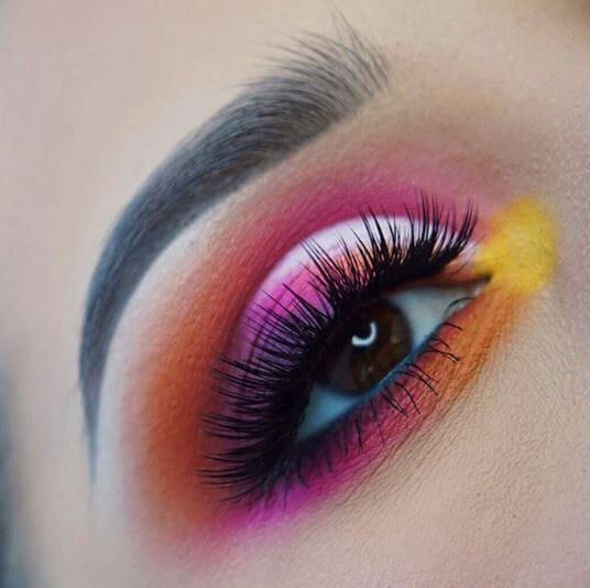 9b4d9a7c5b3 @lazybonesbeauty gave us tropical vibes with this gorgeously colourful eye makeup  look using our Vegas Nay Fiercely Fabulous lashes.
