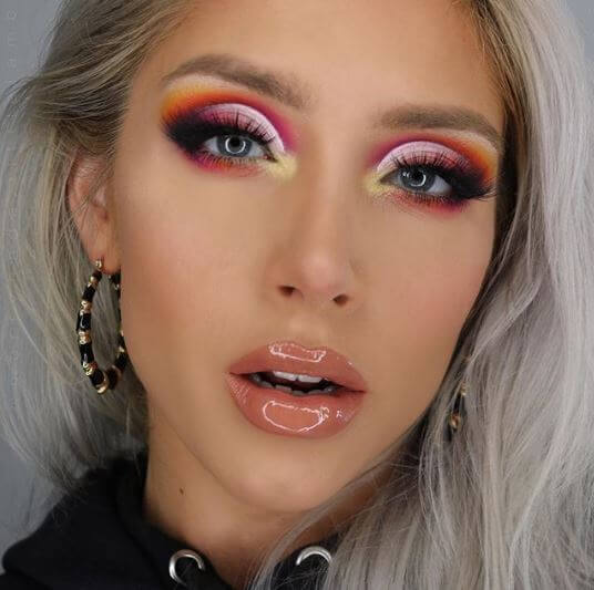 36e48d293f2 @merryhada.littlelamb gave us festival fever with this colourful eye look  using our Krazy Ray Ray Krazy Glam lashes.